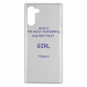 Etui na Samsung Note 10 Who's the most wonderful