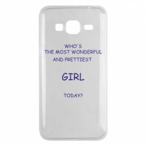 Phone case for Samsung J3 2016 Who's the most wonderful