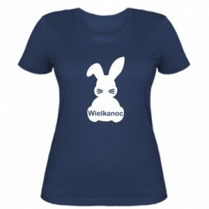 Women's t-shirt Easter. Bunny
