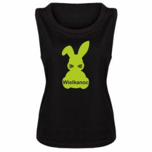 Damska koszulka bez rękawów Wielkanoc. Królik