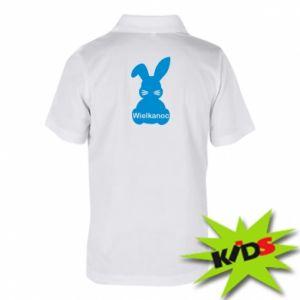 Dziecięca koszulka polo Wielkanoc. Królik