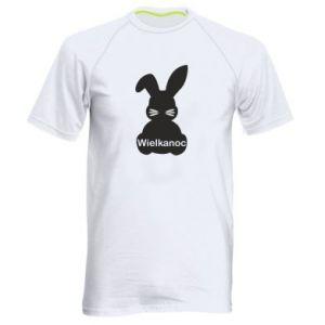 Męska koszulka sportowa Wielkanoc. Królik