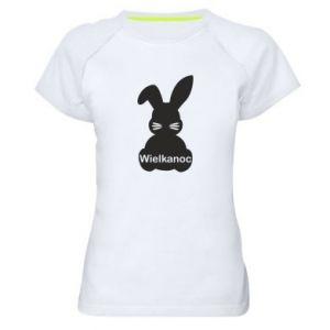 Damska koszulka sportowa Wielkanoc. Królik