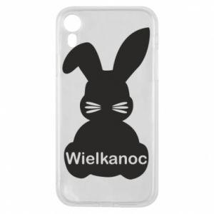 Etui na iPhone XR Wielkanoc. Królik