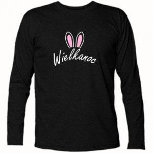 Koszulka z długim rękawem Wielkanoc. Uszy królika