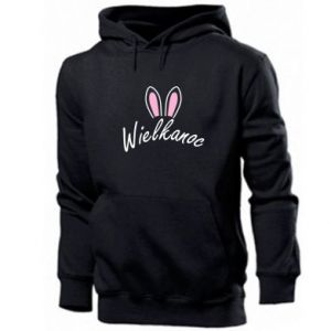 Men's hoodie Easter. Bbunny ears