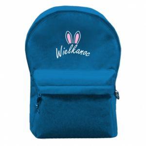 Plecak z przednią kieszenią Wielkanoc. Uszy królika