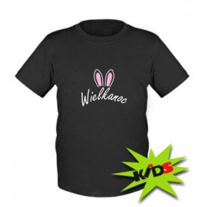 Kids T-shirt Easter. Bbunny ears