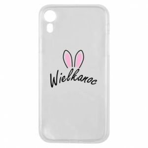 Phone case for iPhone XR Easter. Bbunny ears