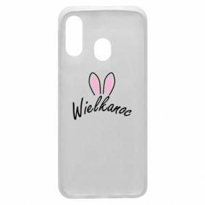 Phone case for Samsung A40 Easter. Bbunny ears