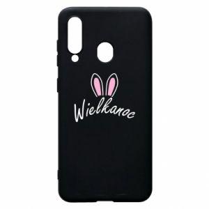 Etui na Samsung A60 Wielkanoc. Uszy królika