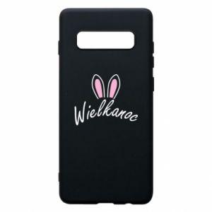 Etui na Samsung S10+ Wielkanoc. Uszy królika