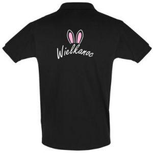 Men's Polo shirt Easter. Bbunny ears
