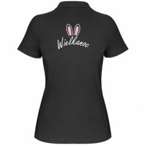 Damska koszulka polo Wielkanoc. Uszy królika