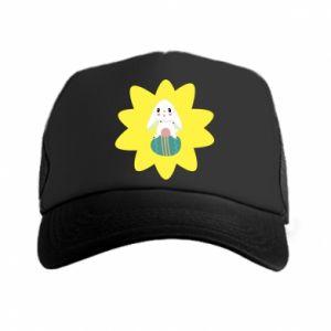Trucker hat Easter bunny