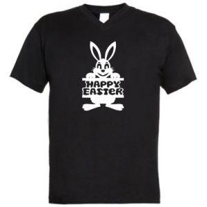 Men's V-neck t-shirt Easter