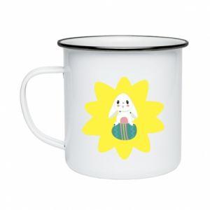 Enameled mug Easter bunny