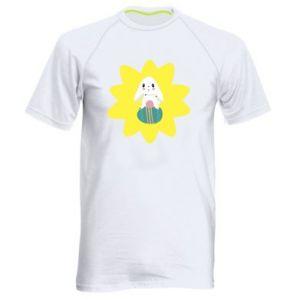 Men's sports t-shirt Easter bunny