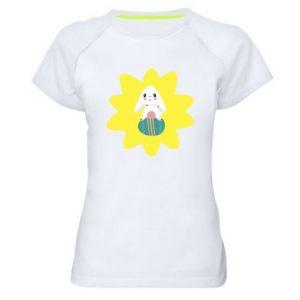 Damska koszulka sportowa Zajączek