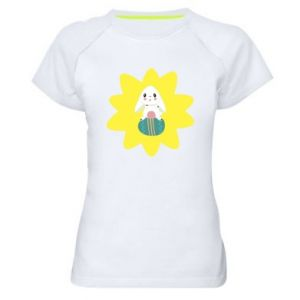 Women's sports t-shirt Easter bunny