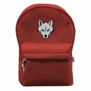 Backpack with front pocket Big wolf