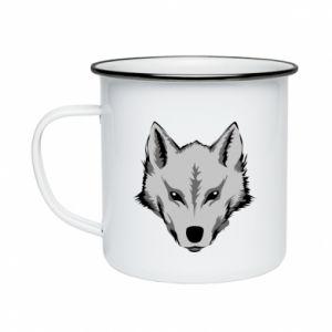 Enameled mug Big wolf