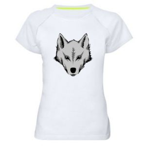 Women's sports t-shirt Big wolf
