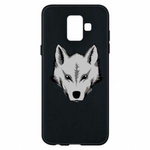 Etui na Samsung A6 2018 Wielki wilk