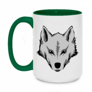 Two-toned mug 450ml Big wolf