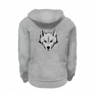 Kid's zipped hoodie % print% Big wolf