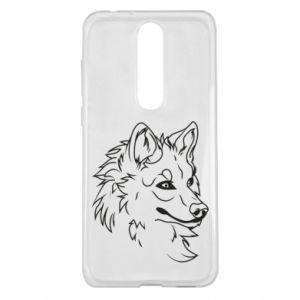 Nokia 5.1 Plus Case Big evil wolf
