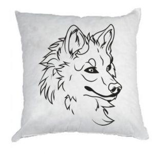 Pillow Big evil wolf