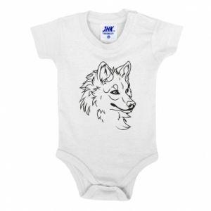 Baby bodysuit Big evil wolf