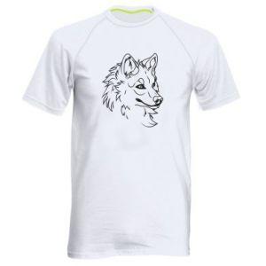 Men's sports t-shirt Big evil wolf