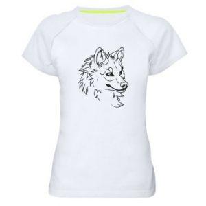 Women's sports t-shirt Big evil wolf