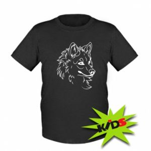 Kids T-shirt Big evil wolf