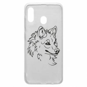 Samsung A20 Case Big evil wolf