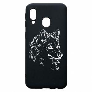 Samsung A40 Case Big evil wolf