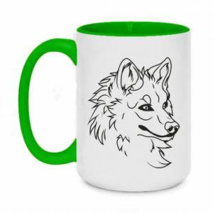 Two-toned mug 450ml Big evil wolf