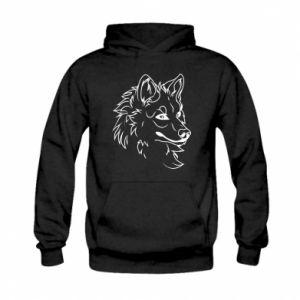 Kid's hoodie Big evil wolf