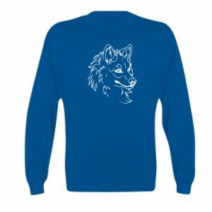 Kid's sweatshirt Big evil wolf