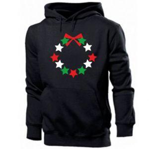Men's hoodie A wreath of stars