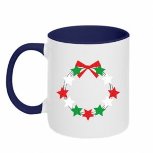 Two-toned mug A wreath of stars