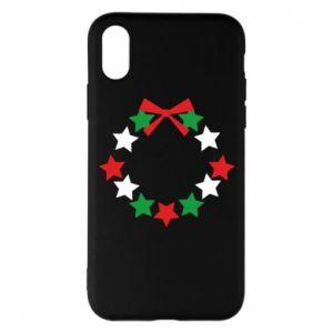 Etui na iPhone X/Xs Wieniec gwiazd