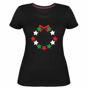 Damska premium koszulka Wieniec gwiazd