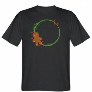 T-shirt Gingerbread Man Wreath