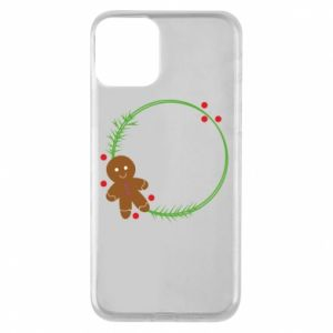 Phone case for iPhone 11 Gingerbread Man Wreath