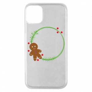 Phone case for iPhone 11 Pro Gingerbread Man Wreath