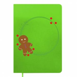 Notepad Gingerbread Man Wreath