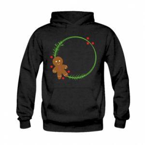 Kid's hoodie Gingerbread Man Wreath